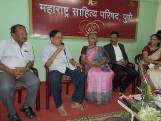 """""""मसाप गप्पा"""" मध्ये रंगल्या  डॉ. अरुणा ढेरे यांच्याशी गप्पा"""