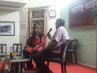 """""""पुरोगामी महाराष्ट्रात आजही आम्हाला स्थान नाही"""" - लक्ष्मण गायकवाड  'मसाप गप्पा' मध"""