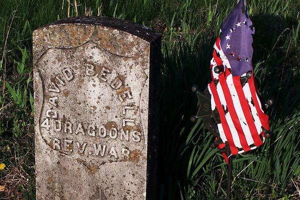 David Bedell headstone - at Old Salem Cementary, Greene County, Missouri