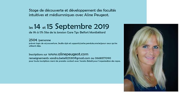 Aline Peugeot 14 et 15 Septembre 2019 jo