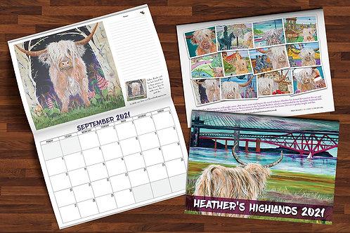 Heather's Highlands 2021 Calendar + (5 Free Christmas Cards)