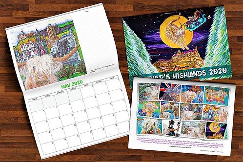 Heather's Highlands 2020 Calendar + (5 Free Christmas Cards)