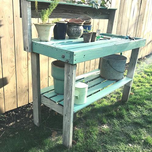 Old Farmhouse Planter's Garden Table