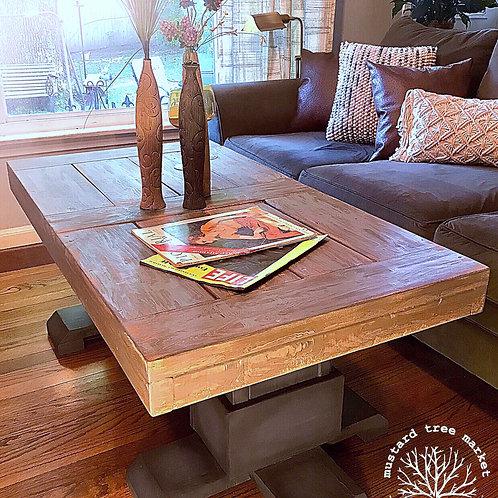 """Weathered Blues"" Custom Built Coffee Table"