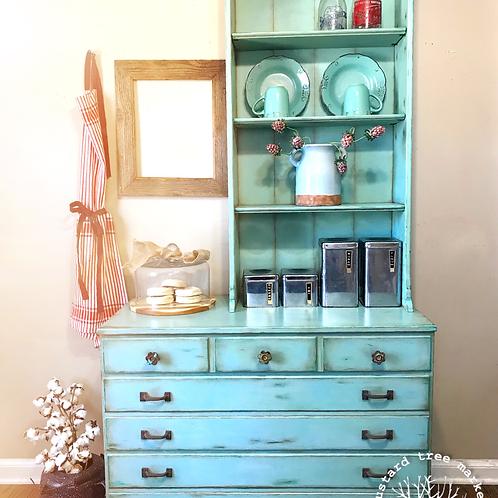 """Mint Julep"" Vintage Cupboard"