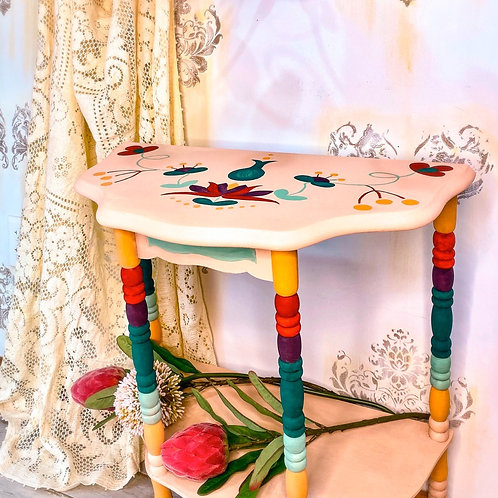 """Anastasia Afterthought"" Anthropologie Style Vintage Table"