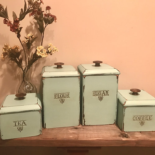 Antique Rehab'ed Farmhouse Canister Set