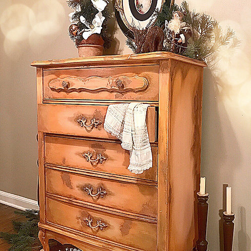 """Venetian Chest of Drawers"" French Provincial Dresser"