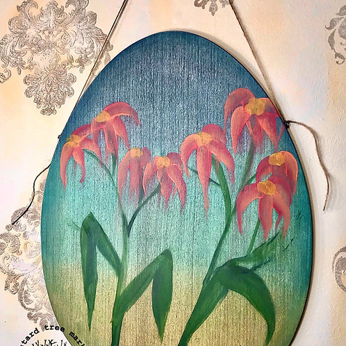 """Wallflower"" Wooden Wall Hanging"