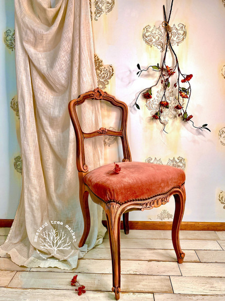 "Meet ""Sunburnt Rose"" Antique Powder Room Chair"