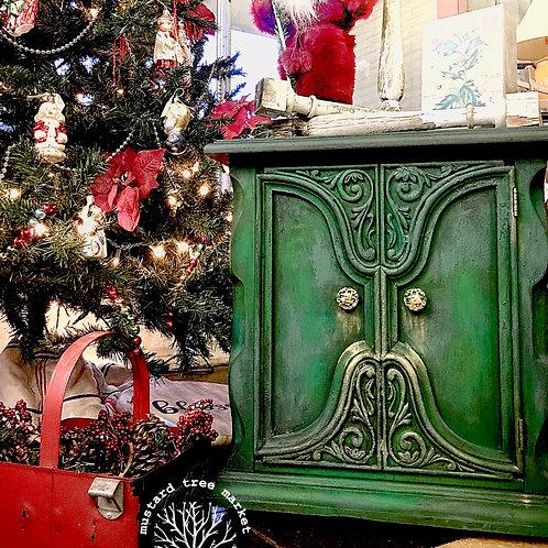 """O' Christmas Tree"" Vintage Cabinet"