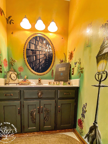 "Meet ""Narnia"" Our Fairytale Bathroom Makeover"