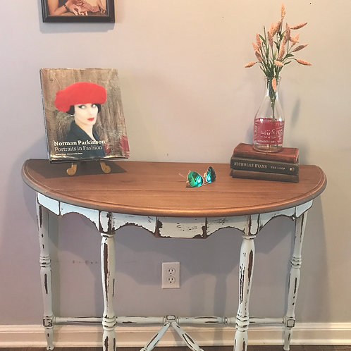 Vintage Farmhouse Entryway Table