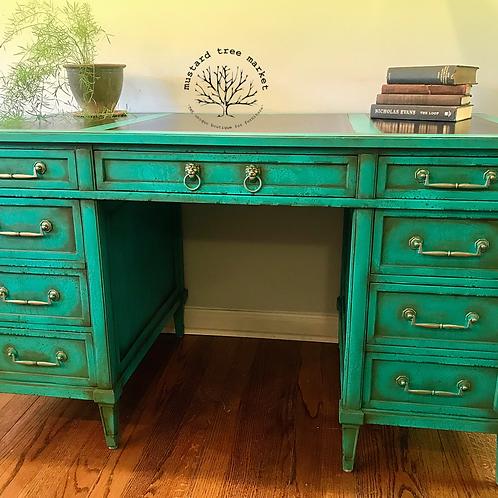 """Patina Green Dream"" Executive Desk"