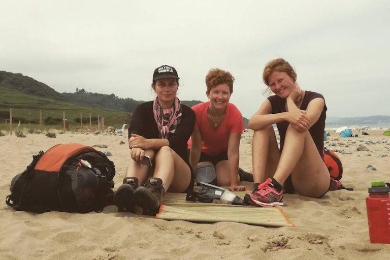3 pilgrims on a Beach