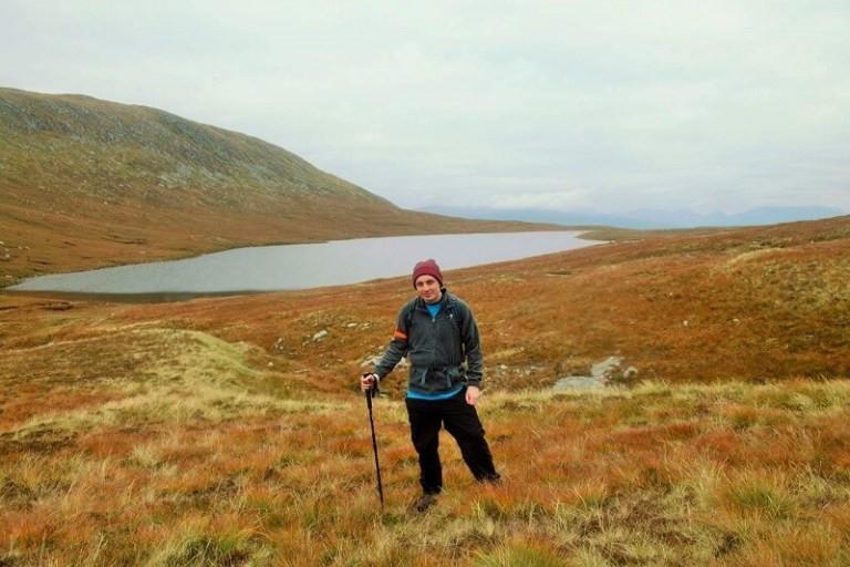 Joe Stevenson hiking with epilepsy on Mountain Track Ben Nevis