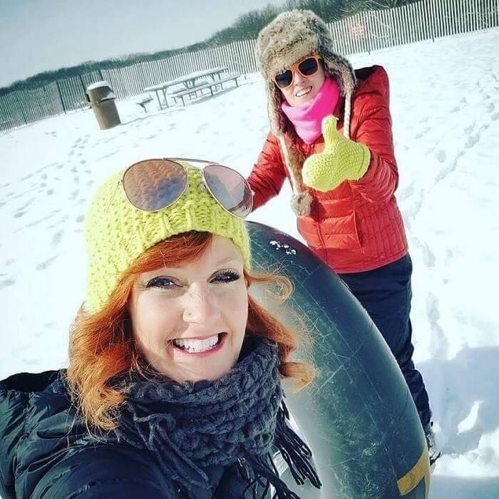Inner tubing on snow