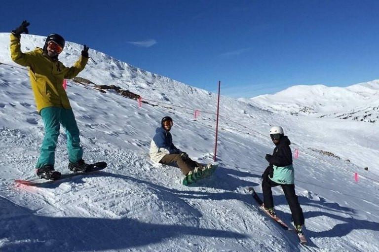 Splitboarding on snow in Colorado
