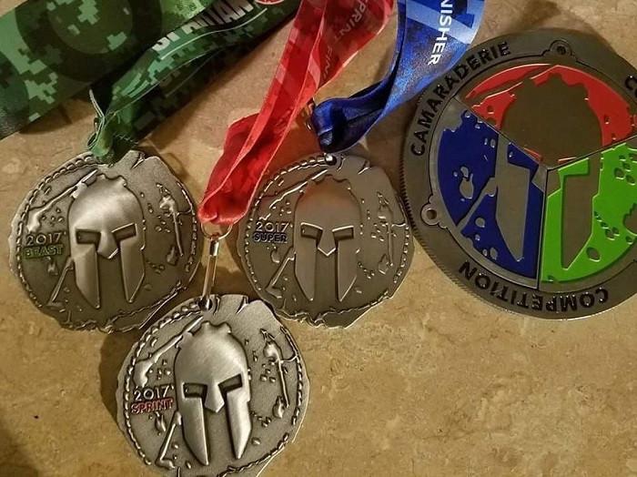 Spartan races medals Kaydee Gaeta
