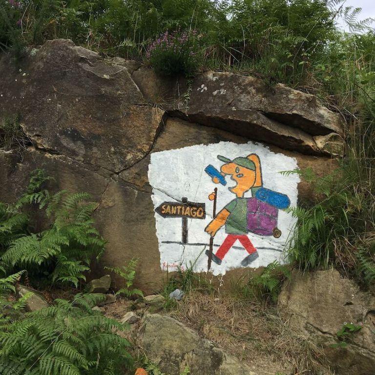 Santiago rock art on the Camino Norte