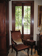Stained shutters in Tallahassee Florida