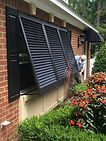 Installing Bahama wood exterior shutters