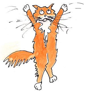 24. Mini drawings x3 - Debbies cats 3 -