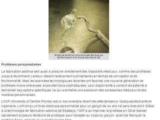 IMPRESSION 3D : Quel impact sur le secteur de la santé - Devicemed