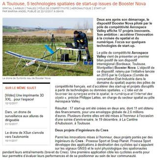 Drone solaire, impression 3D pour l'aéronautique et le spatial, ... Les start up du Booster Nova