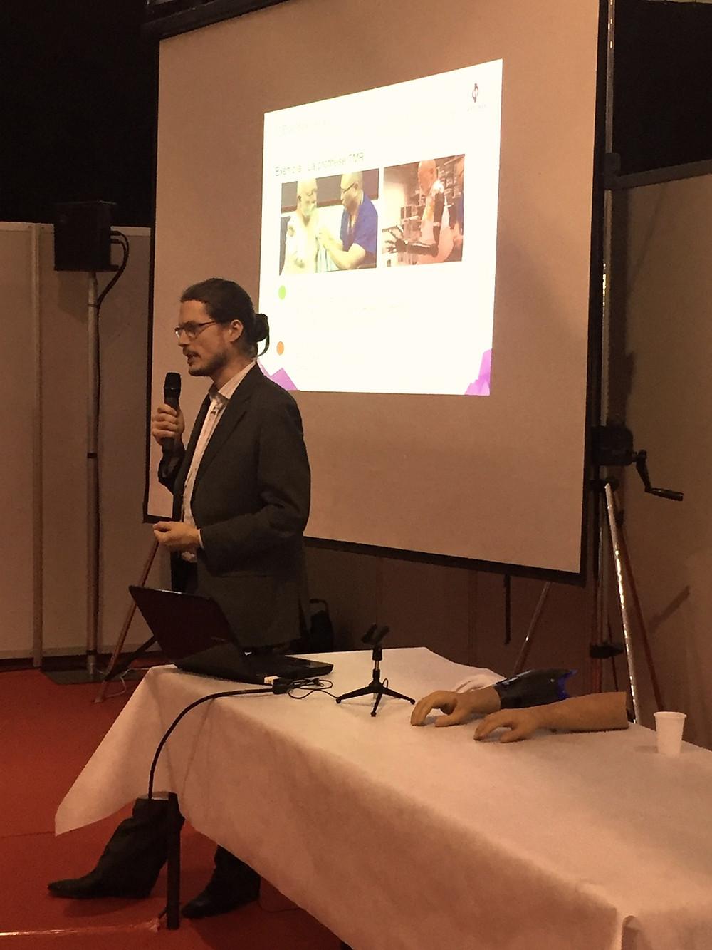 Conférence de Guillaume Bonifas (Société Handy Bionic) sur les prothèses bioniques et biomécatroniques