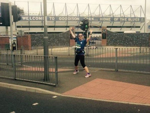 Marie O'Connor raises £1200 after completing marathon