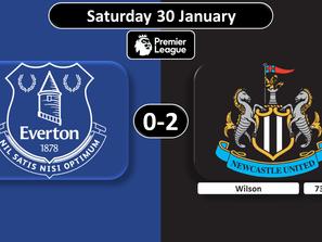Everton 0 Newcastle 2