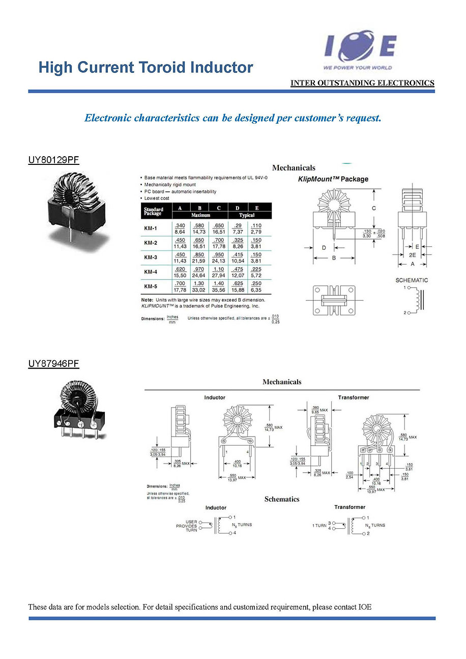 _High Current Toroid Inductor (summary)_