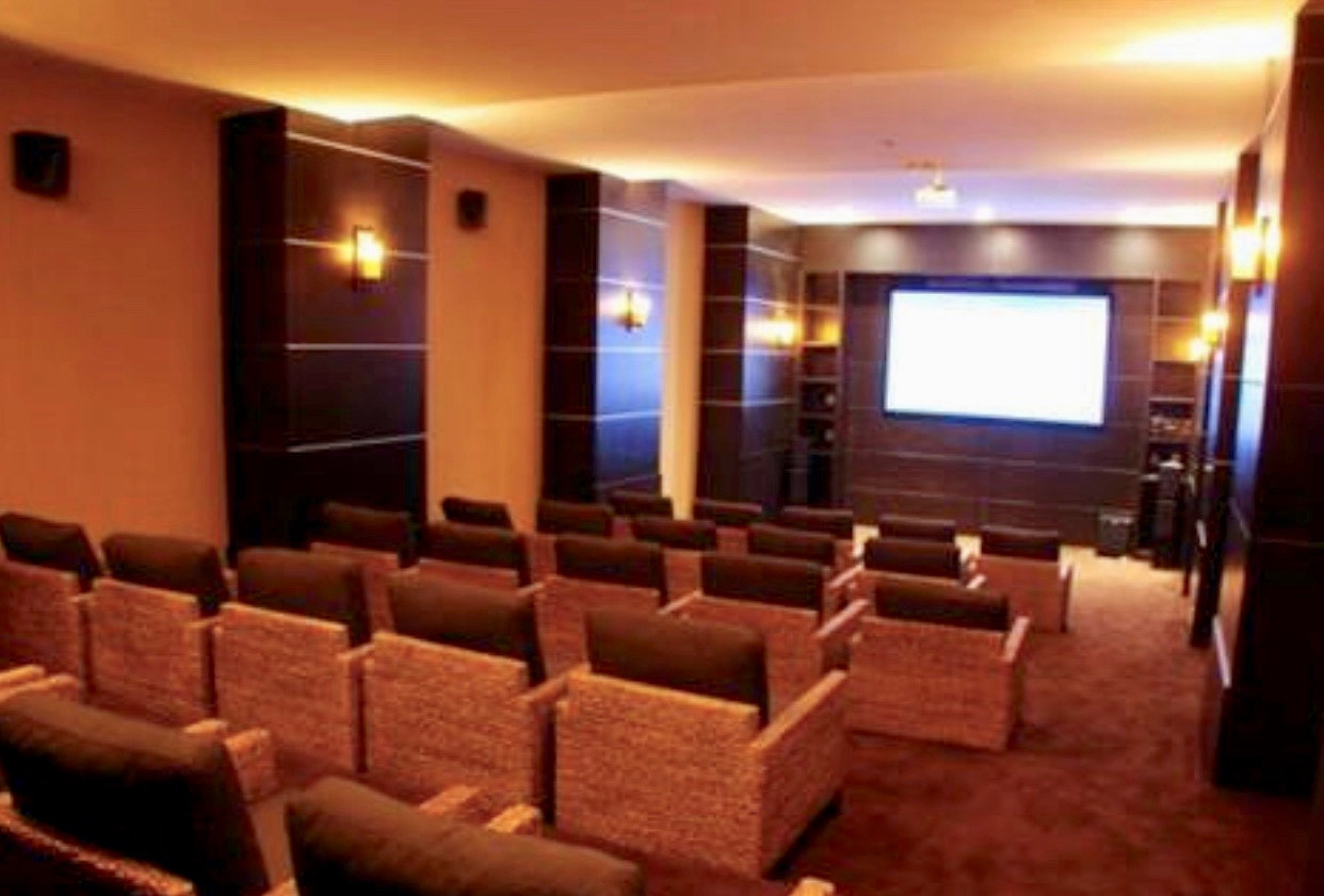 Private theater room for sports games and movie nights!