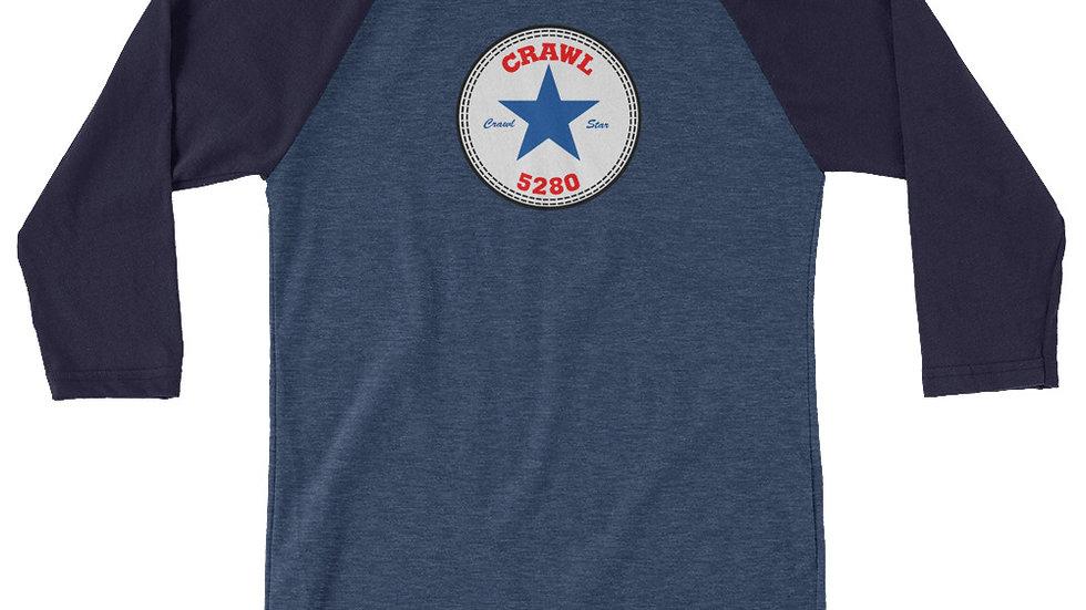 Crawl Star 3/4 sleeve raglan shirt
