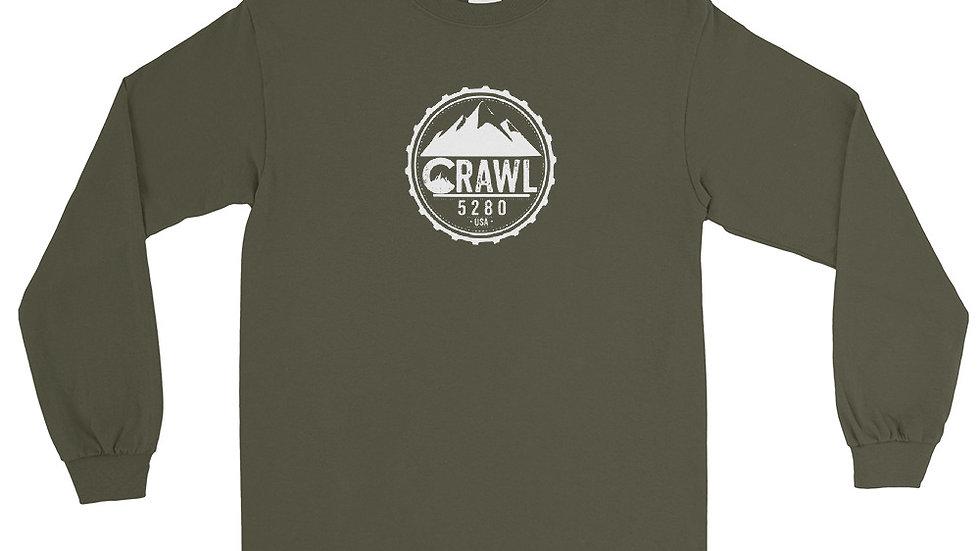 Crawl 5280 Round Logo Men's Long Sleeve Shirt