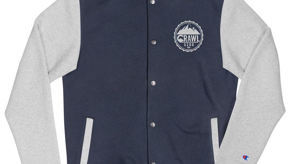 Crawl 5280 Embroidered Champion Bomber Jacket