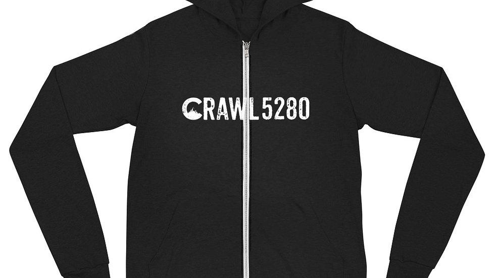 Crawl 5280 Unisex zip hoodie