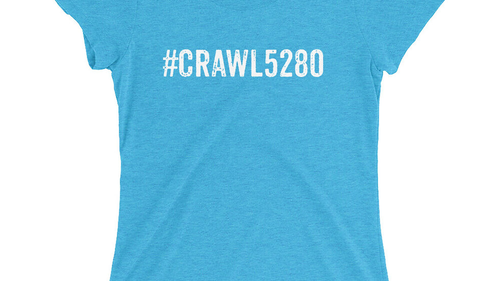 #Crawl5280 Ladies' short sleeve t-shirt