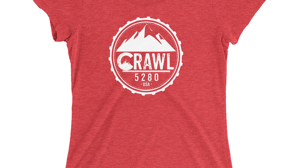 Crawl 5280 Round Logo Ladies' short sleeve t-shirt
