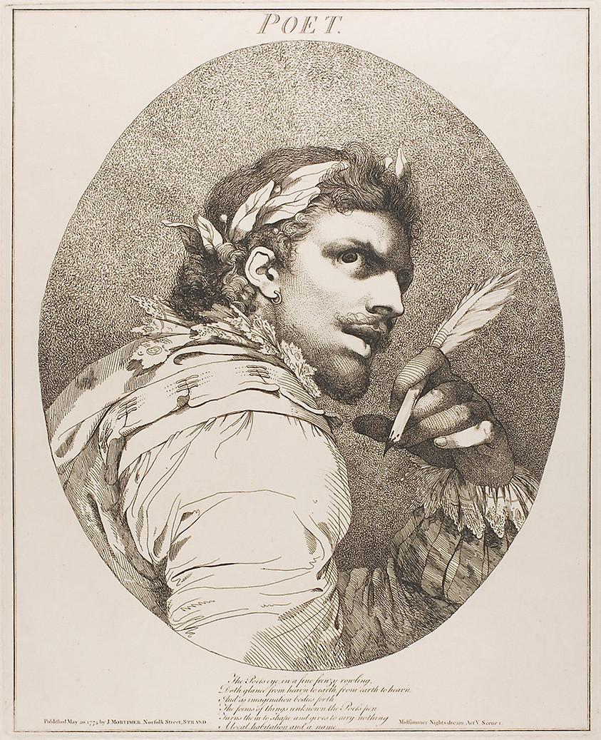 """""""The Poet"""" by John Hamilton Mortimer"""