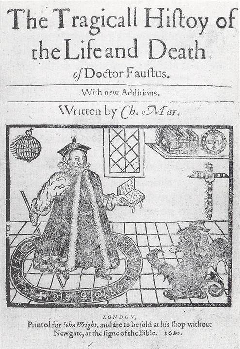 1620 edition of Christopher Marlowe's play The Tragical History of the Life and Death ofDr. Faustus