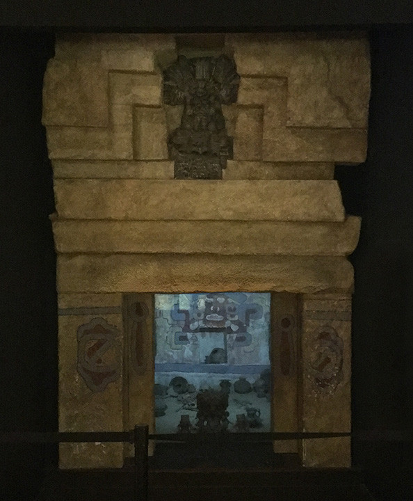 Zapotec tomb replica at the American Museum of Natural History