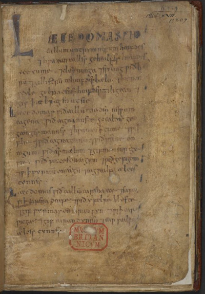 Bald's Leechbook 270 x 205 mm parchment and ink mid-10th century,