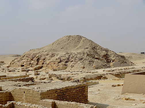 Pyramid of Unas at Sakkara, Egypt.
