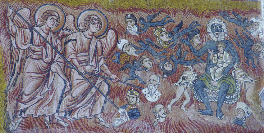Last Judgement, 12th-century Byzantine mosaic, cathedral of Santa Maria Assunta, Torcello,