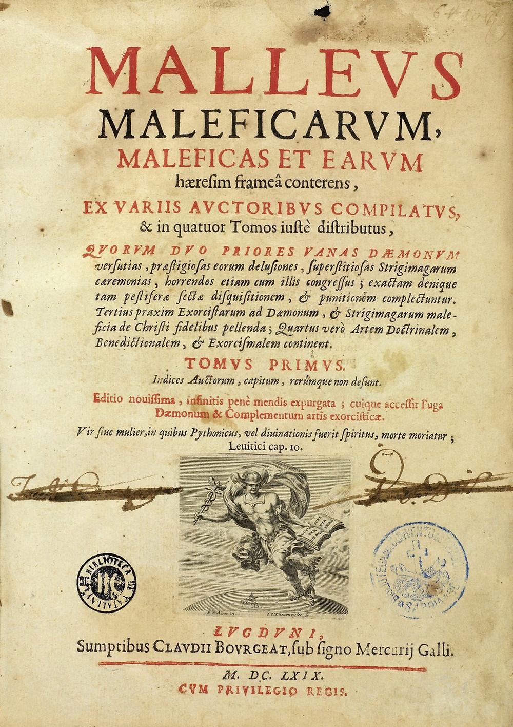 Malleus maleficarum, frontspiece