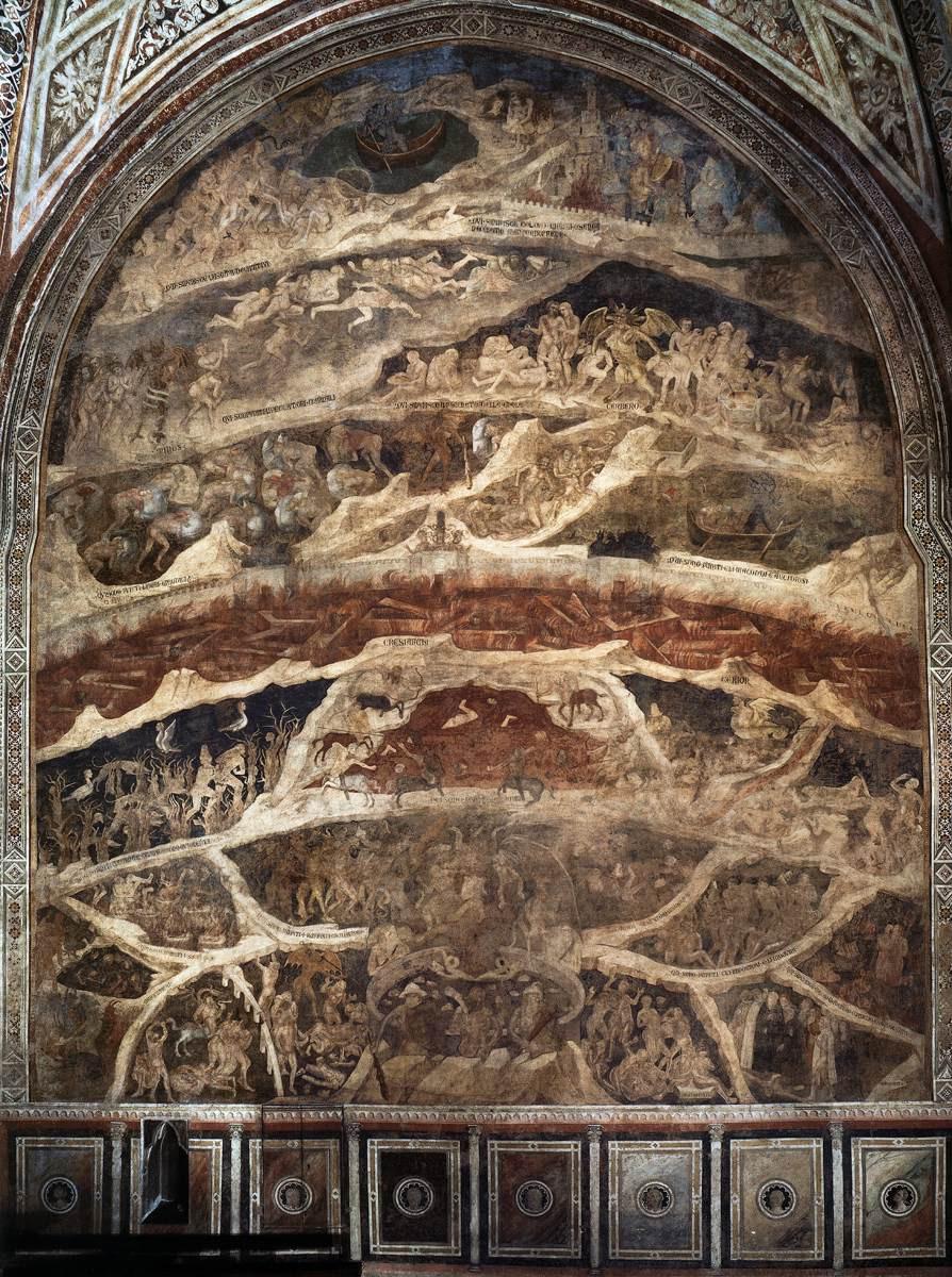 Nardo di Cione, Hell (north wall) 1354-57 Fresco Cappella Strozzi, Santa Maria Novella