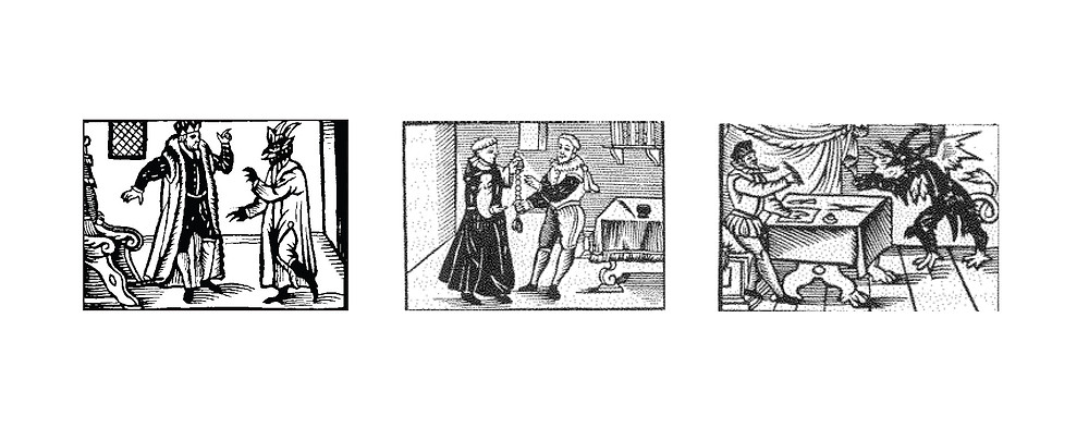 Woodcuts from a Dutch version of the Faust chapbook. c.1590