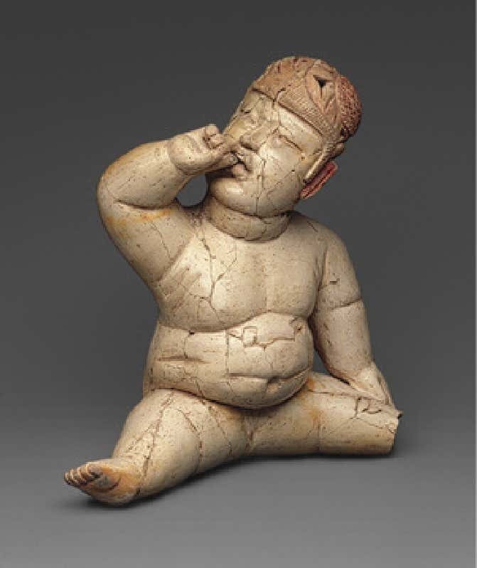 Seated Olmec Hollow Baby Figure